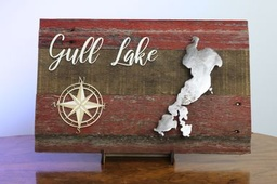 Lake Sign (on Barnwood)